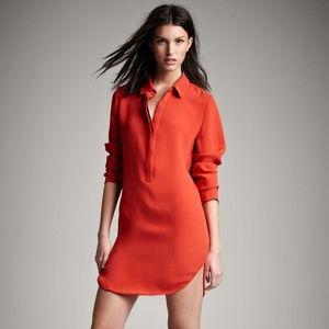 Vince NWOT Silk Shirtdress in Orange Sz 8 Gorgeous